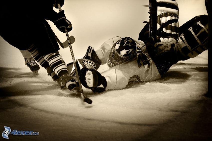 hockey, goalie