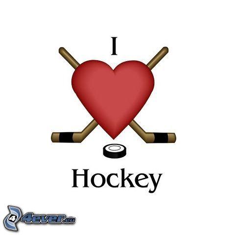 I love hockey, heart