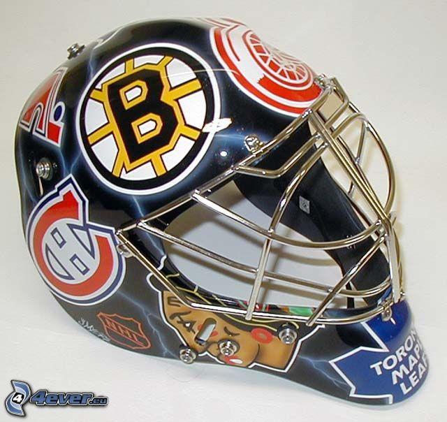 sports helmet, hockey, Boston Bruins, NHL