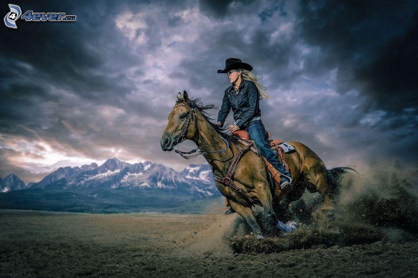 horse ride, mountain