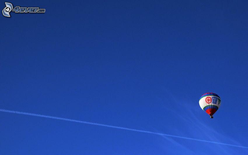 hot air balloon, sky