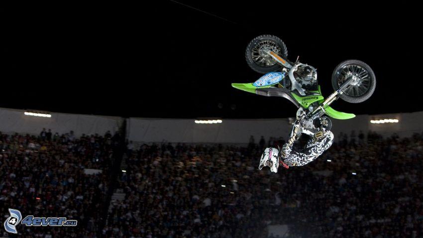 jump on motorcycle, acrobatics