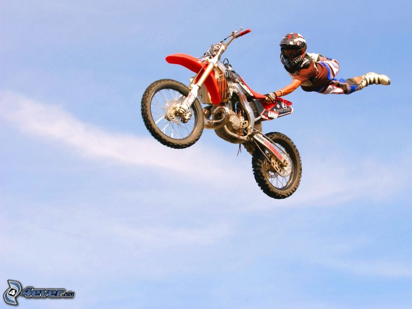 jump on motorcycle
