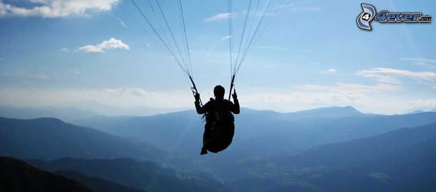 paragliding, mountain