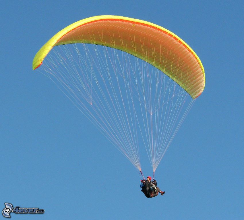 paragliding, tandem, sky