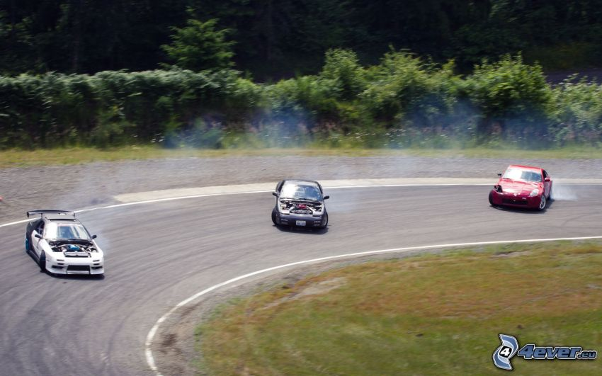 rally, drifting