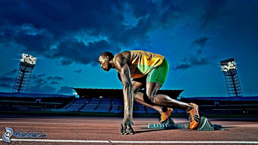 runner, stadium