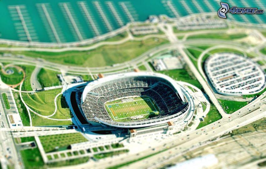 stadium, diorama