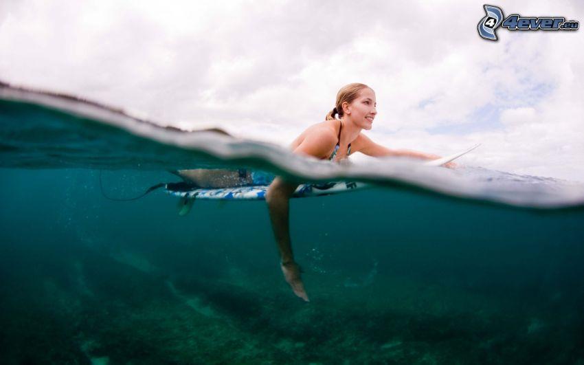 surfer, swimming