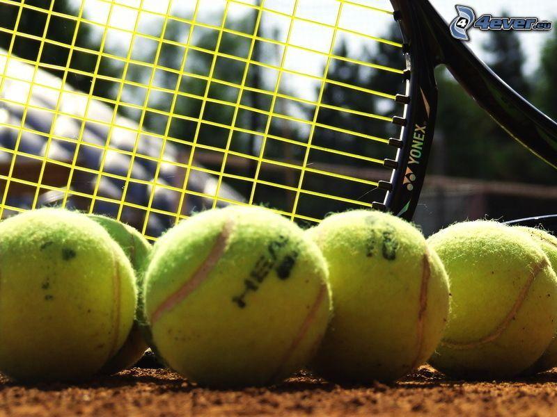 tennis, tennis racket, tennis balls