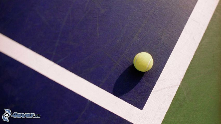 tennis ball, tennis courts, white lines