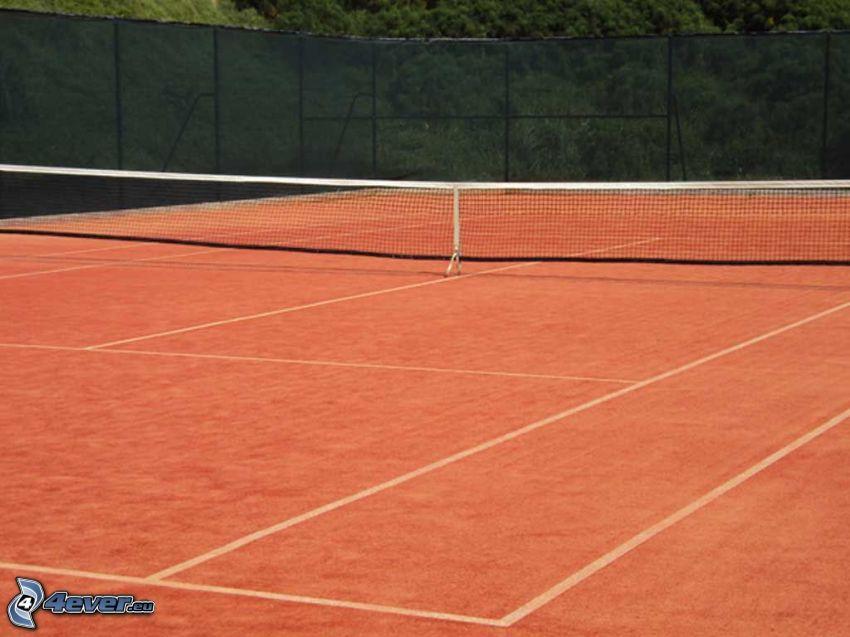 tennis courts, net