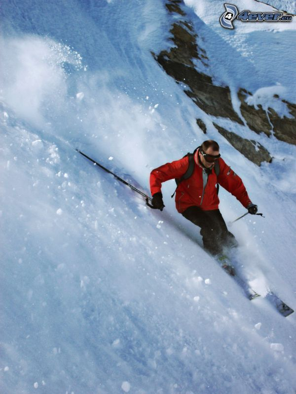alpine skier, extreme skiing