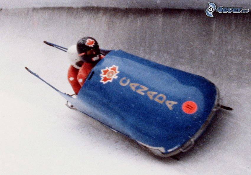 bobsledding, old photographs