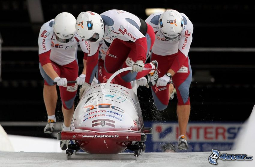 bobsledding, start