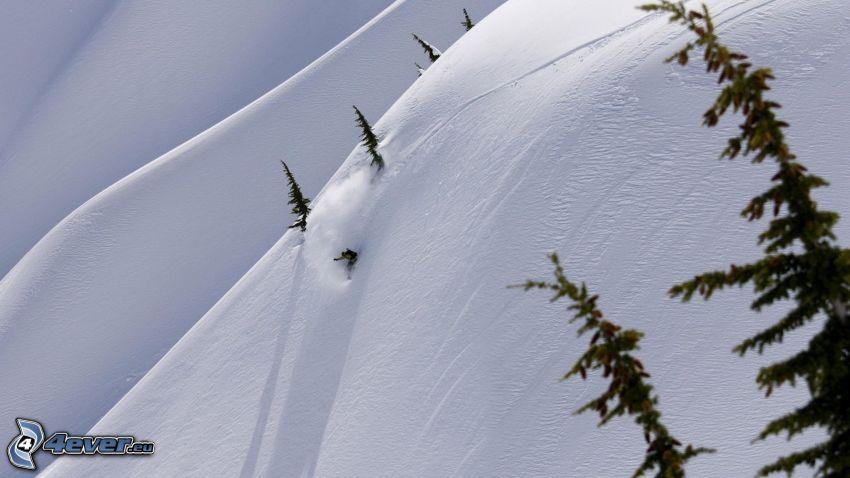 extreme skiing, snow