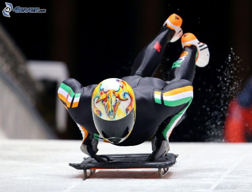 ice sledding