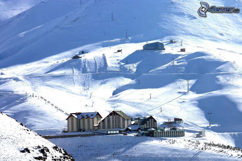 Palandöken, Turkey, ski center, ski tow