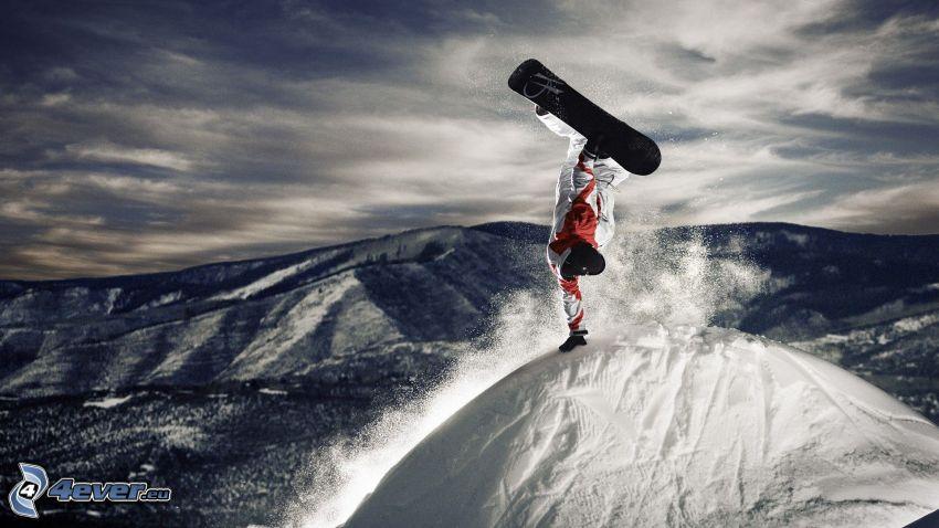 snowboarding, jump, acrobatics