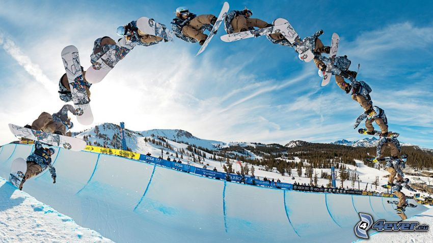 snowboarding, jump