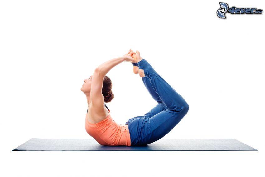 yoga, warming up, exercise
