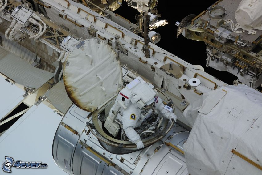 astronaut on the ISS, International Space Station ISS