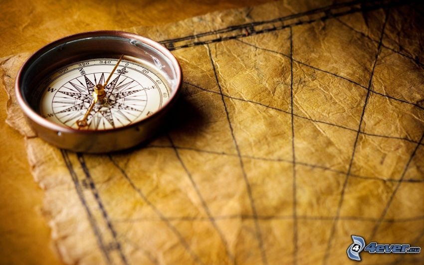 compass, historical map