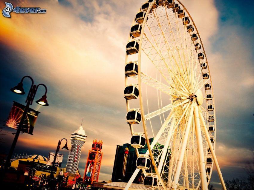 ferris wheel, sky