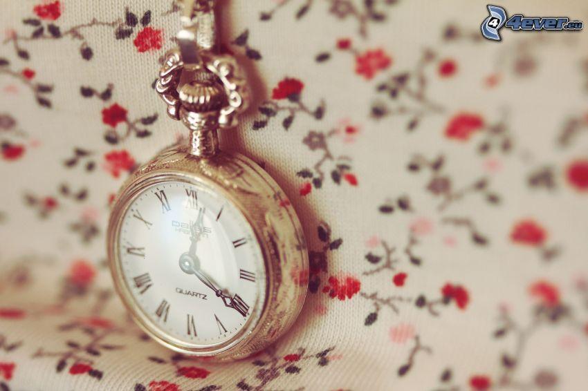 historic clocks, roses