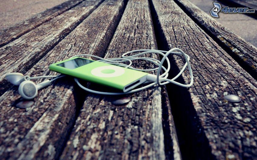 iPod, mp3, wood