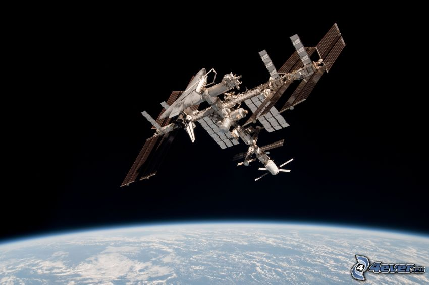 ISS over Earth