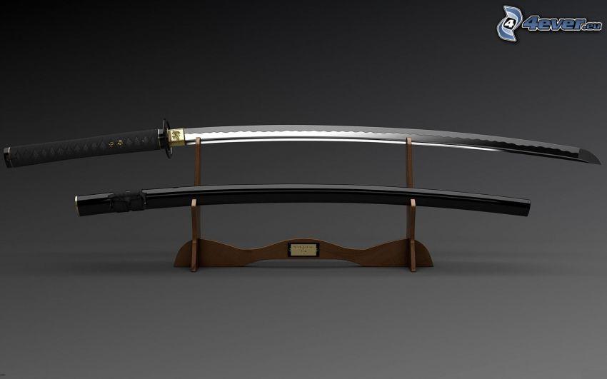 katana, sword