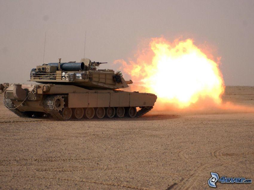 M1 Abrams, shooting, tank