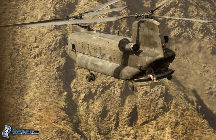 Boeing CH-47 Chinook, rock