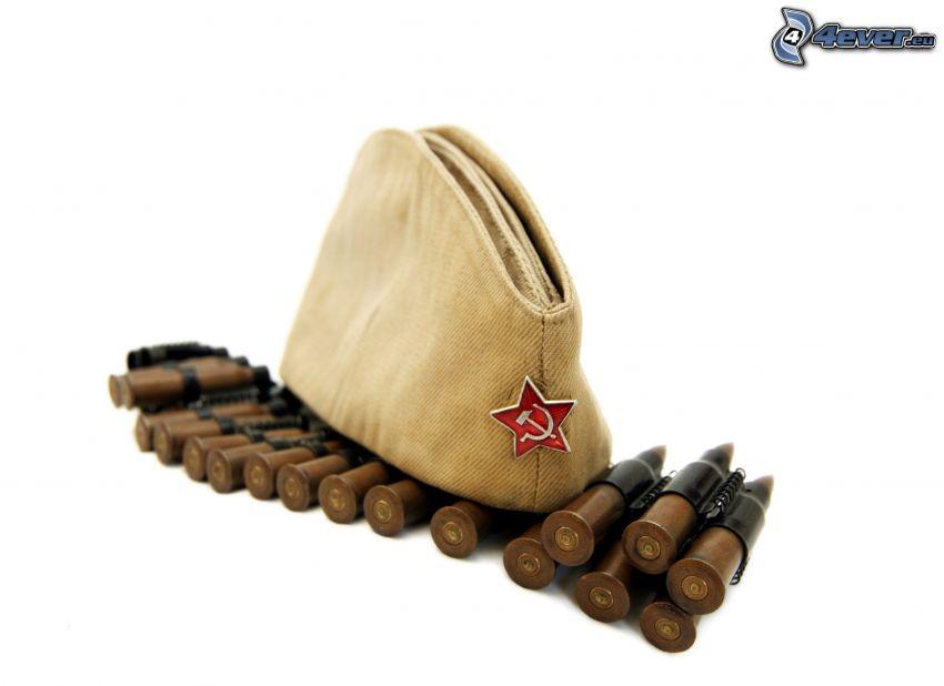 hat, ammunition