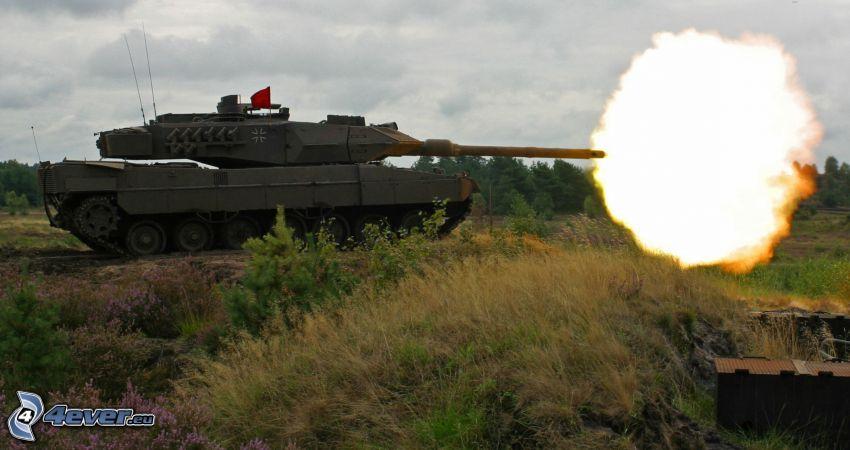 M1 Abrams, shot, tank