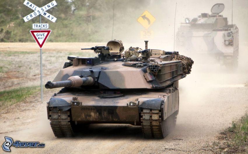M1 Abrams, tank, sign