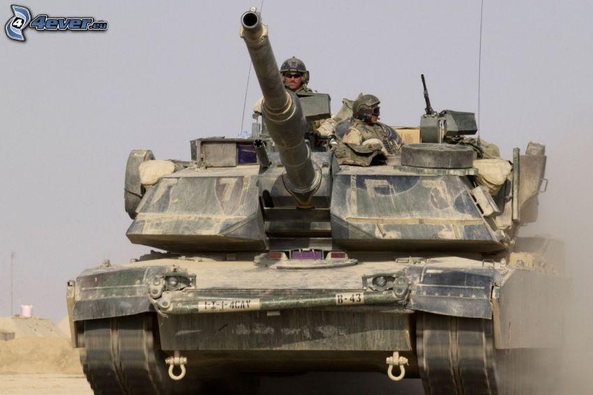 M1 Abrams, tank, soldiers