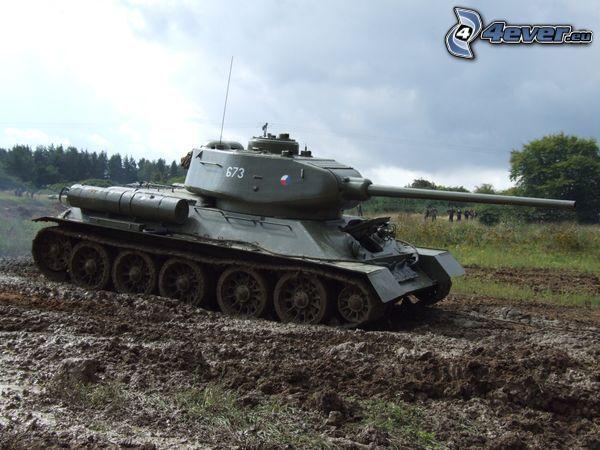 T-34, mud