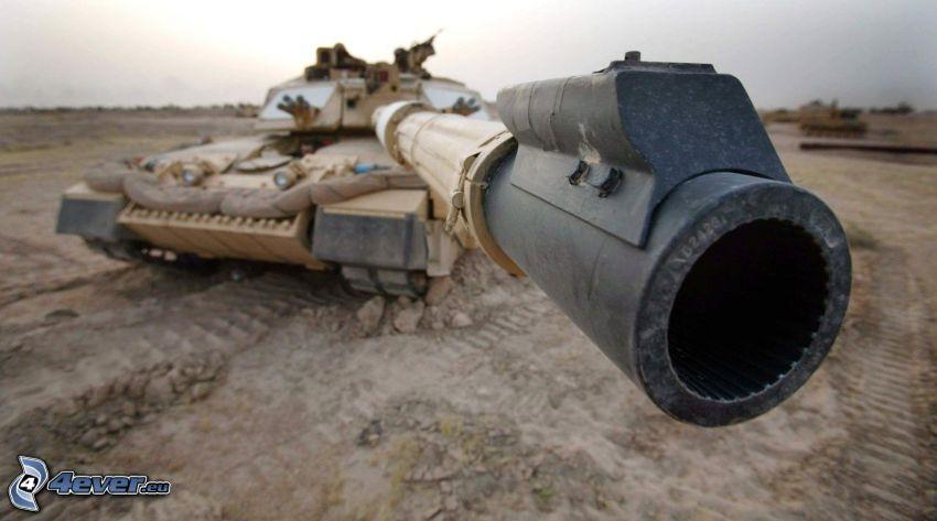 tank, cannon