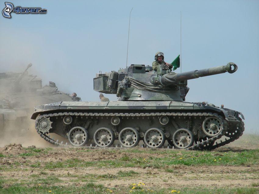 tank, soldier