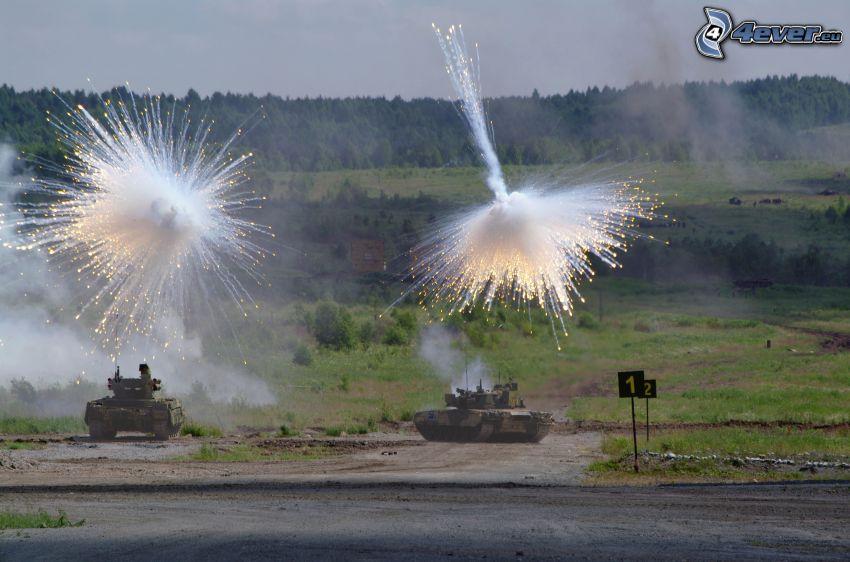 tanks, shot