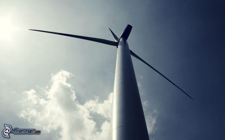 wind power plant, sky