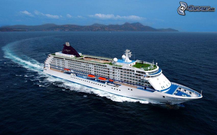 cruise ship, sea