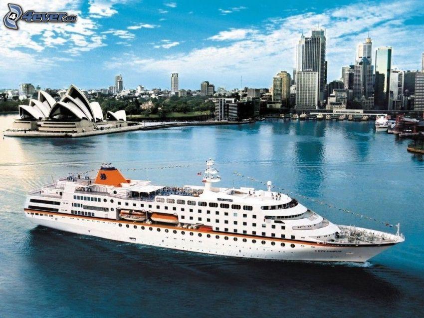 cruise ship, Sydney, Sydney Opera House