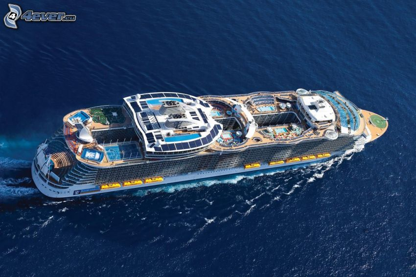 luxury ship, sea