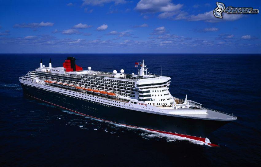 Queen Mary 2, luxury ship, open sea