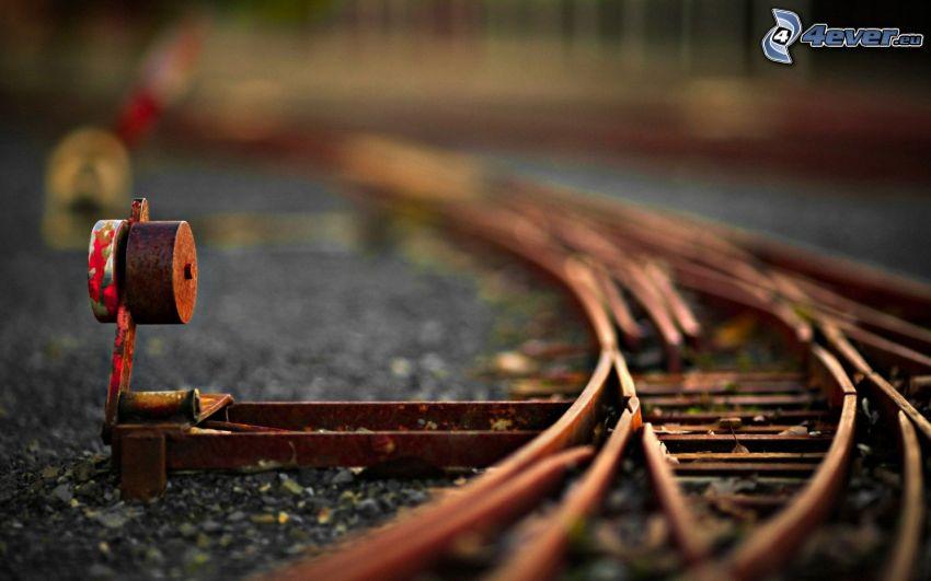 rails, railway, diorama