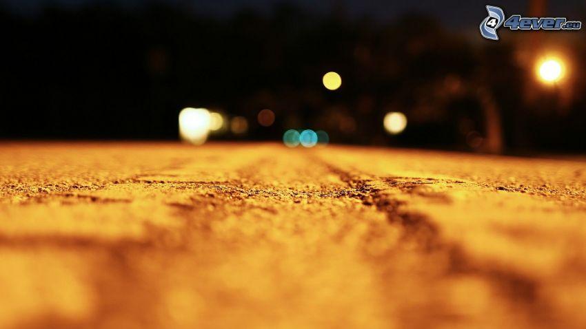 road, night