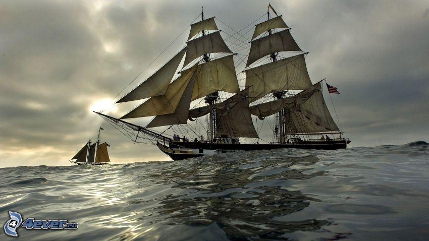 sailing boat, sea